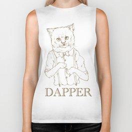 Dapper kitty cat Biker Tank