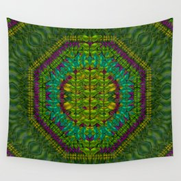 Butterfly flower jungle and full of leaves everywhere Wall Tapestry