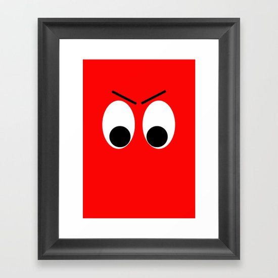 I is Mad Framed Art Print