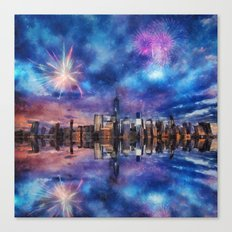 New York Fireworks Canvas Print