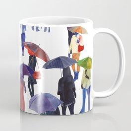 People with umbrellas Coffee Mug