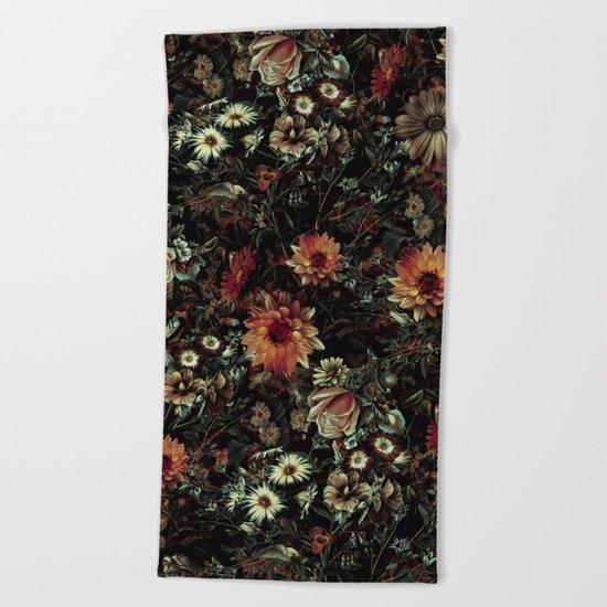 Vintage Garden IV Beach Towel