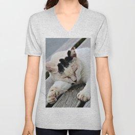 Cat Dreaming Unisex V-Neck