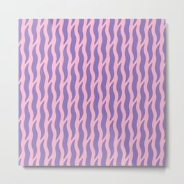 Tiger Wild Animal Print Pattern 240 Purple and Pink Metal Print