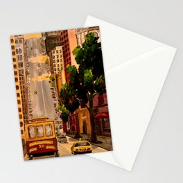 San Francisco Van Ness Cable Car Stationery Cards