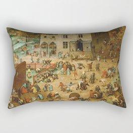 Pieter Bruegel The Elder - Children s Games Rectangular Pillow