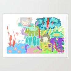 Lightswords Art Print