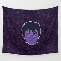 harry Wall Tapestries featuring Harry by Kuki