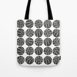 Grey on White Tote Bag