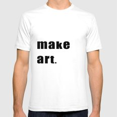 make art. SMALL Mens Fitted Tee White