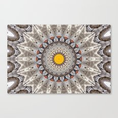 Lovely Healing Mandalas in Brilliant Colors: Black, Ecru, Gray, Silver, Orange, and Yellow Canvas Print