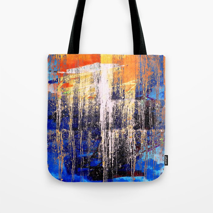Golden Dawn, Abstract Landscape Art Tote Bag