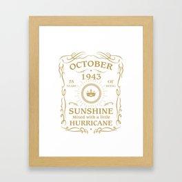 October 1943 Sunshine mixed Hurricane Framed Art Print