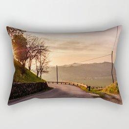 Spring sunset in the vineyards of Collio Friulano Rectangular Pillow