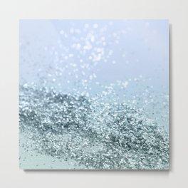 Light Seafoam Light Blue Glitter #1 #shiny #decor #art #society6 Metal Print