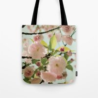 blush Tote Bags featuring Blush by Bella Blue Photography