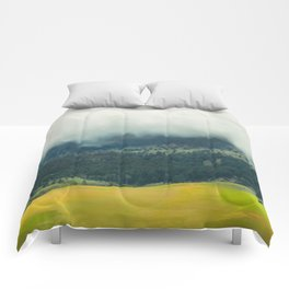 Foggy Morning Meadow Comforters