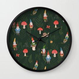 Woodland Gnomes Wall Clock