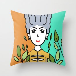 Girl Season Throw Pillow