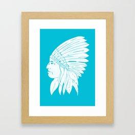 Chief / White Edition Framed Art Print