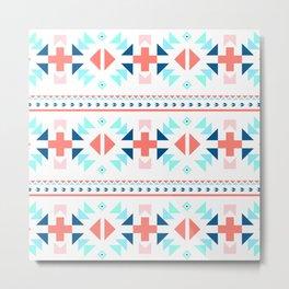 geometry navajo pattern Metal Print