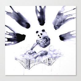Panic (Panda)monium Canvas Print