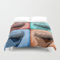 globe Duvet Covers featuring Globe by Aloke Design