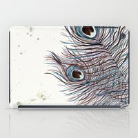 peacock iPad Cases featuring PEACOCK by Monika Strigel