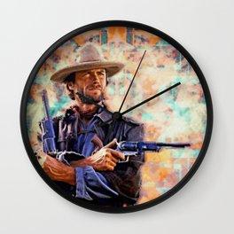 Pistolero Wall Clock