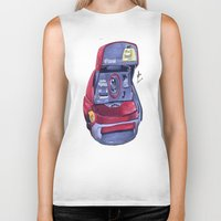 polaroid Biker Tanks featuring Polaroid by Glen Howy