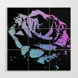 Splattered Rose Wood Wall Art