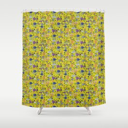 Color small fishes and sea Shower Curtain