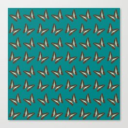 Turquoise & Brown Butterfly Pattern Canvas Print