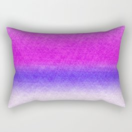 Abstract lilac blue pink geometrical ombre Rectangular Pillow