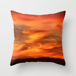 Sunrise - Munich look south Alpes and Lake Tegernsee Valley Throw Pillow