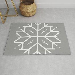 Snowflake - Silver Rug