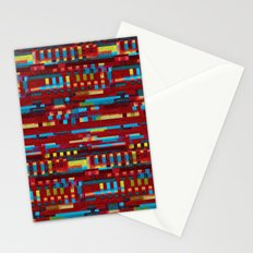 Manly cubes of color Stationery Cards