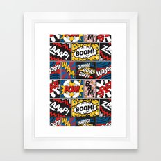 Modern Comic Book Superhero Pattern Color Colour Cartoon Lichtenstein Pop Art Framed Art Print