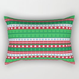 Santa's Special Delivery Repeating Pattern Rectangular Pillow