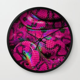 Pink Barbie Snake Wall Clock