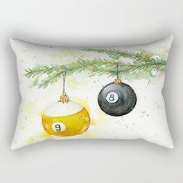 Billiard Pool Balls Christmas Ornaments 8-Ball 9-Ball Rectangular Pillow