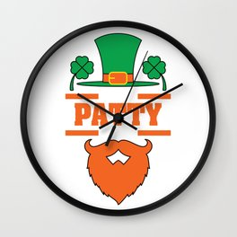 """""""It's Patty Time""""  tee design. Makes an awesome gift to your family and friends too! Grab your now!  Wall Clock"""