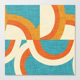 New Mid Mod Freeway Blue #mid-century Canvas Print