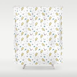 Thunders and sweet faces Shower Curtain