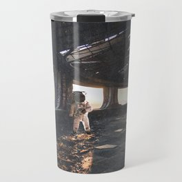 Astronaut in an Abandoned Building Travel Mug