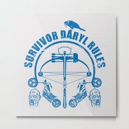 Walking dead - Survivor Daryl rules Metal Print