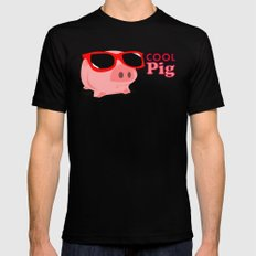 Cool Pig MEDIUM Black Mens Fitted Tee