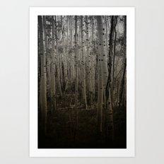 Deep talks, dark walks.  Art Print