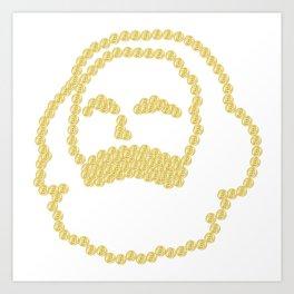 Marx Bitcoins Art Print