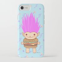 hamburger iPhone & iPod Cases featuring  Hamburger Troll by Noel ILL